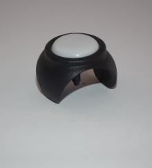 PTFE-Klemmschalengleiter, rund, für RohrØ 28-31mm, schwarz